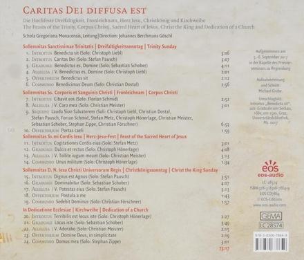 Caritas Dei diffusa est : Die Hochfeste Dreifaltigkeit, Fronleichnam, Herz Jesu, Christkönig und Kirchweihe im Gre...