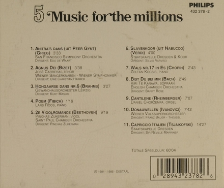 Music for the millions. Vol. 5