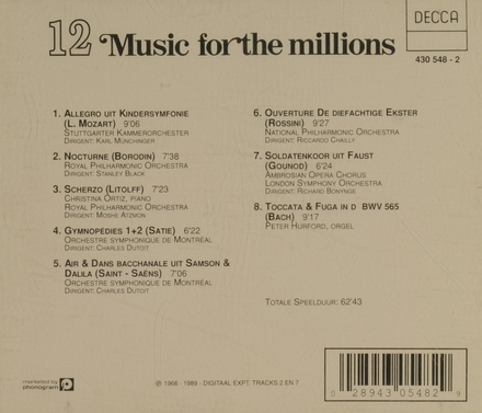Music for the millions. Vol. 12