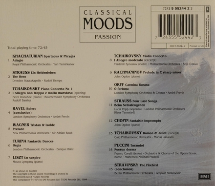 Classical moods: passion
