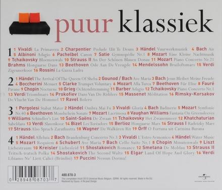 Puur klassiek : het gezelligste van Beethoven, Schubert, Bizet, Tchaikovsky [sic], Brahms, Händel, Vivaldi, Chopin...