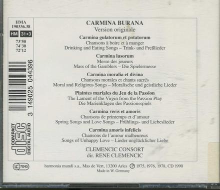 Carmina burana : version originale