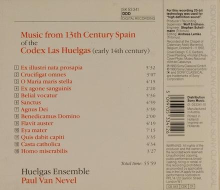 Codex las Huelgas : music from 13th century Spain