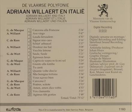 Adriaan Willaert en Italië