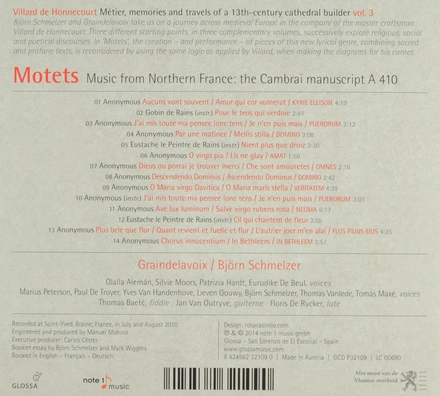 Motets : music from Northern France : the Cambrai manuscript A 410