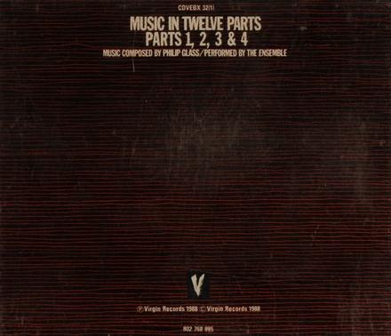 Music in twelve parts. Parts 1-4