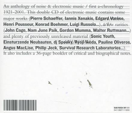 An anthology of noice & electronic music volume #1. vol.1