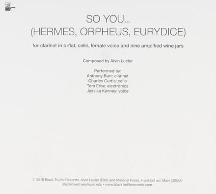 So you... Hermes, Orpheus, Eurydice