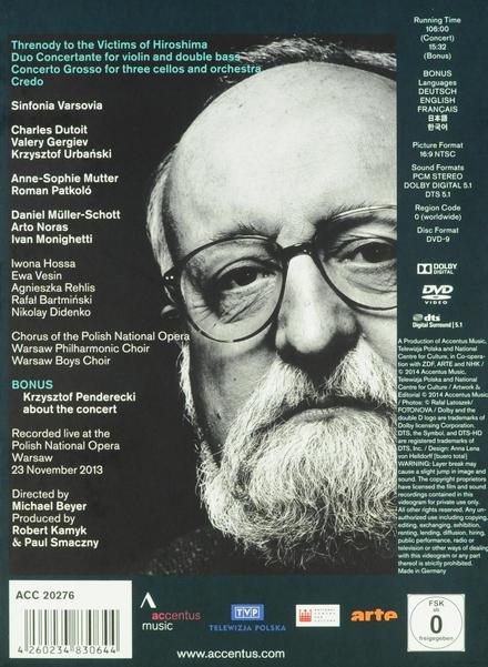 A tribute to Krysztof Penderecki