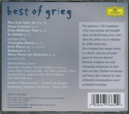 Best of Grieg : 140 Minutes of his most beautiful masterpieces