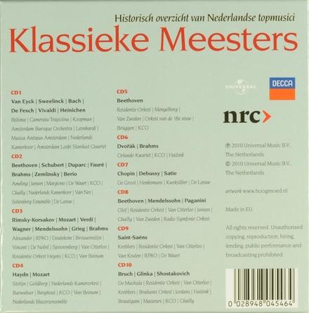 Klassieke meesters : Historisch overzicht van Nederlandse topmusici