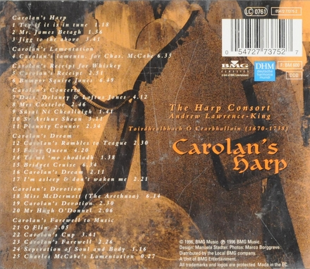 Carolan's harp : Dance-tunes, airs & laments by Turlough O'Carolan, the 'chief musician of all Ireland'