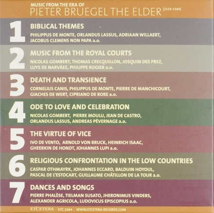 Music from the era of Pieter Bruegel the elder