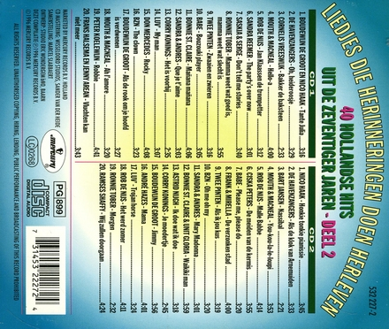 40 Hollandse hits uit de 70er jaren. vol.2