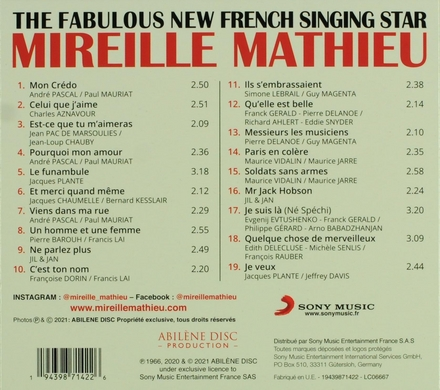 The fabulous new French singing star