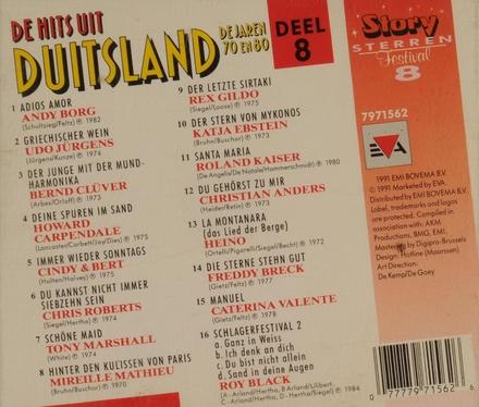 De hits uit...jaren 70/80 - tv cd