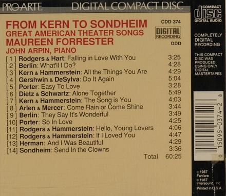 From kern to sondheim