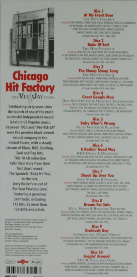 Chicago hit factory : The Vee Jay story 1953-1966