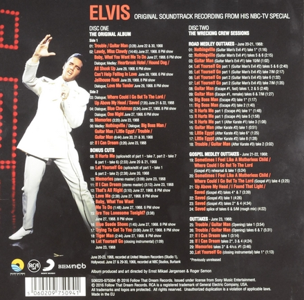 Elvis : Original soundtrack recording from his NBC-TV special