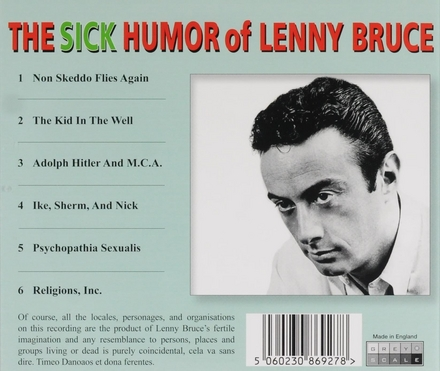 The sick humor of Lenny Bruce