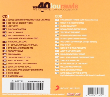 Top 40 Lou Rawls : his ultimate top 40 collection