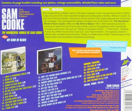 The wonderful world of Sam Cooke : Plus my kind of blues