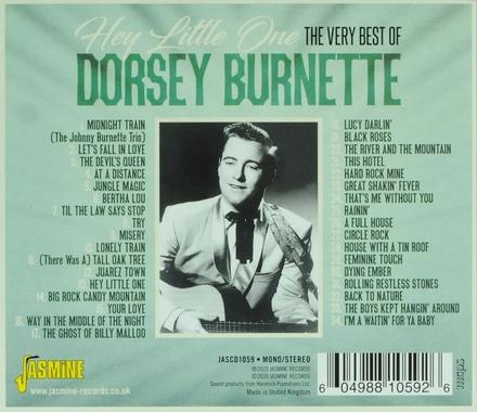 Hey little one : The very best of Dorsey Burnette 1956-1962