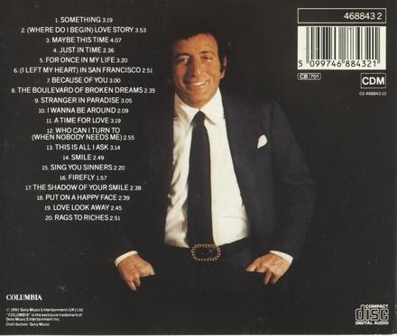 Tony Bennett's all time greatest hits