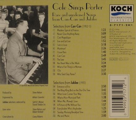 Cole sings porter
