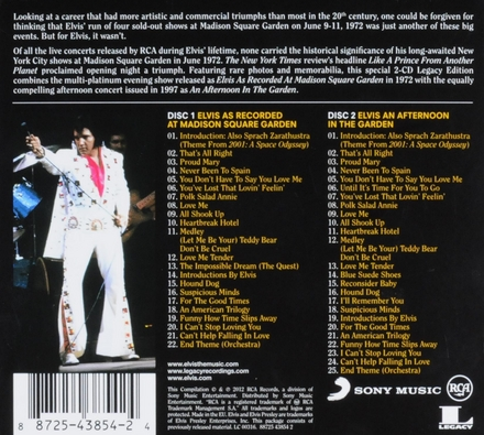 Elvis Presley as recorded at Madison Square Garden ; An afternoon in the garden