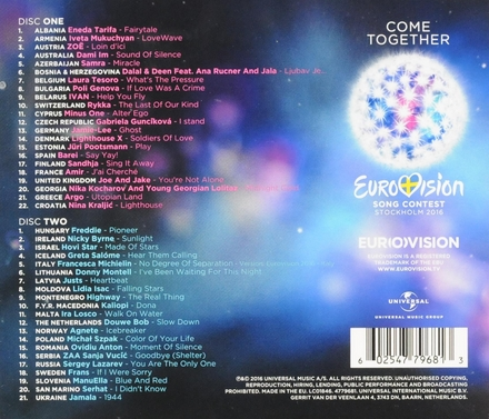 Come together : Eurovision Song Contest Stockholm 2016