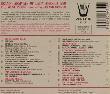 Les grands carnavals d'Amérique Latine et des Antilles