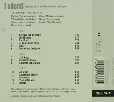 I silenti : inspired by Claudio Monteverdi's madrigals