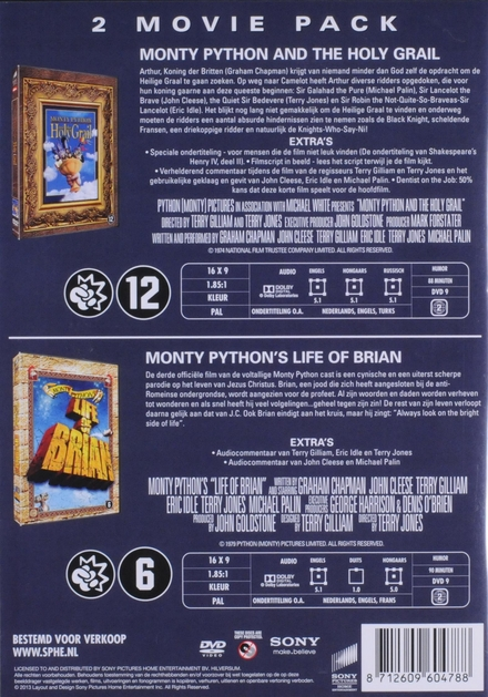 Monty Python and the holy grail ; Life of Brian