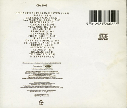 The mission : original soundtrack from the film