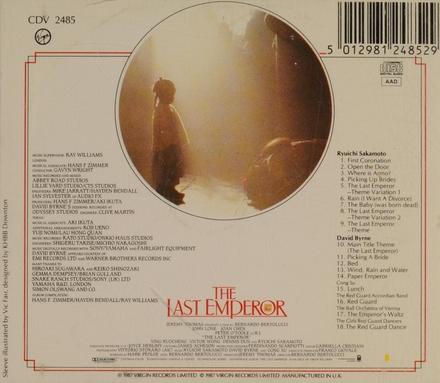 The last emperor : original motion picture soundtrack