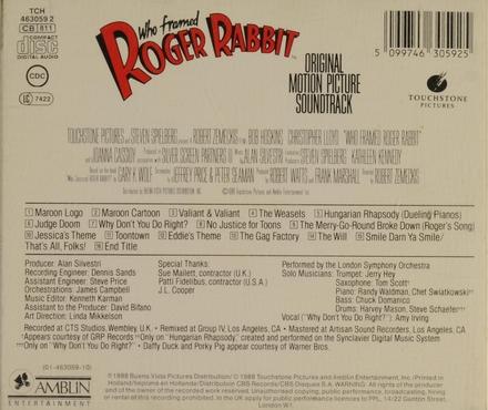Who framed Roger Rabbit : original motion picture soundtrack