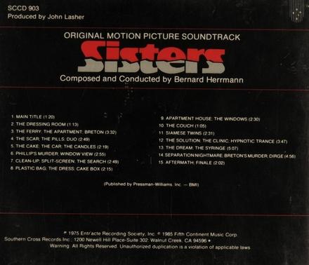 Sisters : original motion picture soundtrack