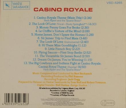 Casino Royale : Original motion picture soundtrack