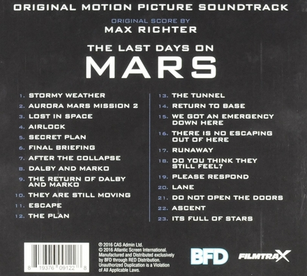 The last days on Mars : original motion picture soundtrack