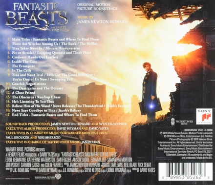 Fantastic beasts and where to find them : original motion picture soundtrack