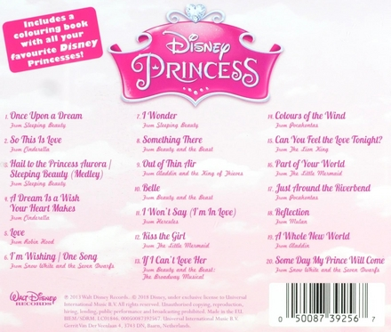 Disney princess : The music of hopes, dreams and happy endings
