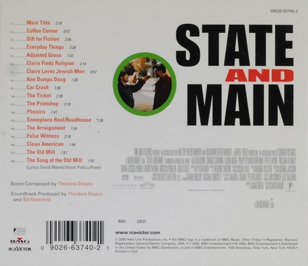State and main : Music from the motion picture