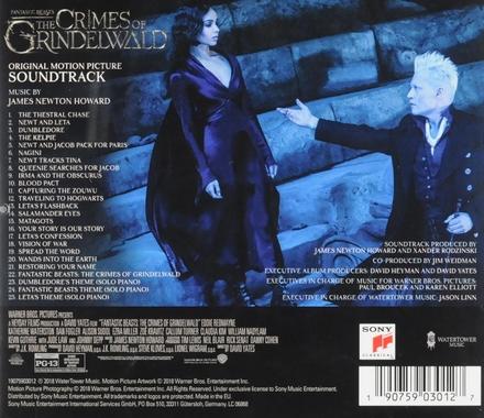Fantastic beasts : the crimes of Grindelwald : original motion picture soundtrack
