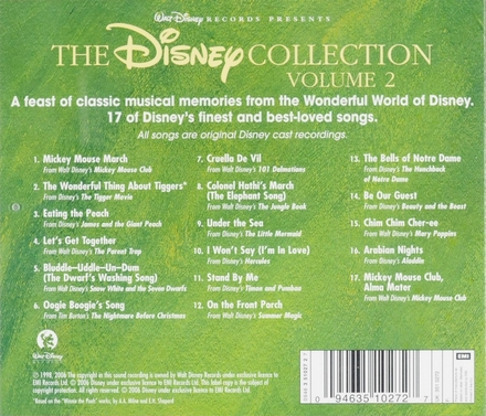The Disney collection : favourite original soundtrack recordings. Vol. 2