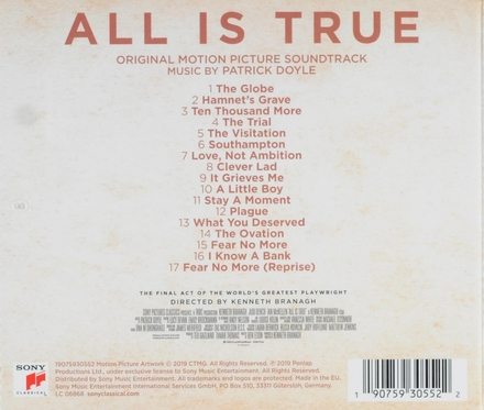 All is true : original motion picture soundtrack