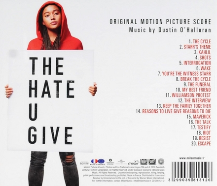 The hate u give : original motion picture score