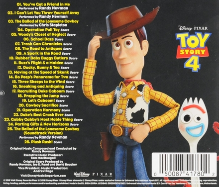 Toy story 4 : original motion picture soundtrack