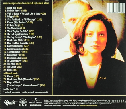 The silence of the lambs : expanded original MGM motion picture soundtrack