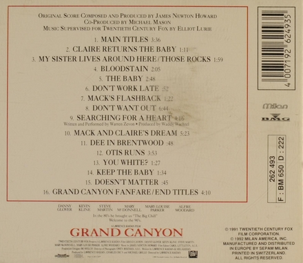 Grand Canyon : music from the original motion picture soundtrack